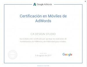 Certificación de Google AdWords