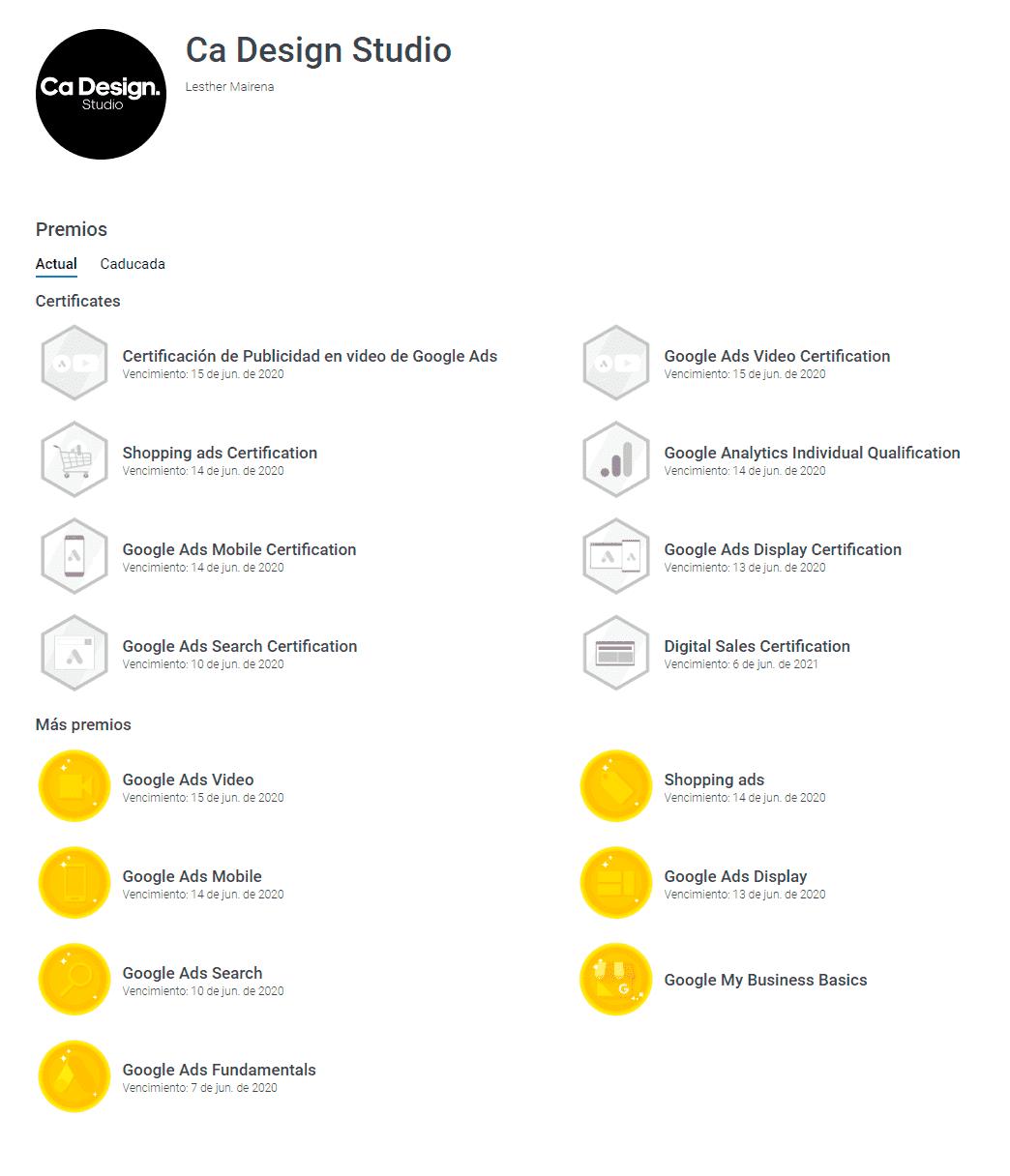 Certificaciones en Google Ads